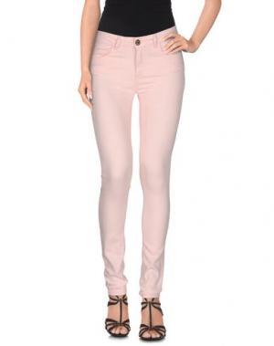 Джинсовые брюки MAISON ESPIN. Цвет: розовый
