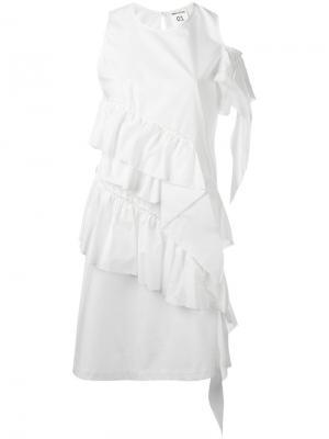 Платье Richie Semicouture. Цвет: белый