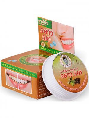 Травяная отбеливающая зубная паста с экстрактом Нони 5 STAR COSMETIC. Цвет: светло-коричневый