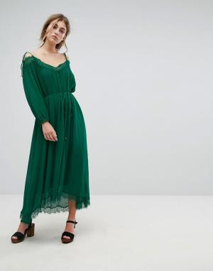 Essentiel Antwerp Платье Oignons. Цвет: зеленый