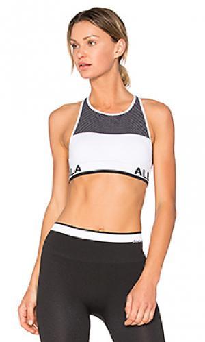 Бесшовный спортивный бюстгальтер ace ALALA. Цвет: белый
