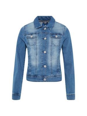 Куртка TOM TAILOR. Цвет: серый, синий