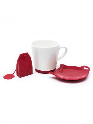 Набор для приготовления чая OURSSON. Цвет: красный