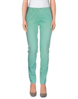 Повседневные брюки MONOCROM. Цвет: светло-зеленый