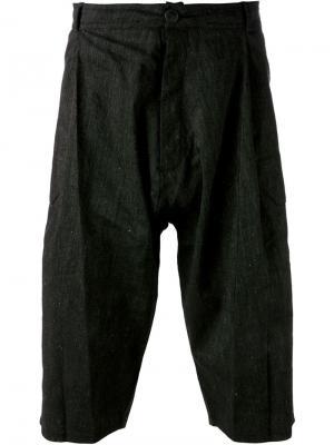 Шорты со складками Jan Van Essche. Цвет: чёрный