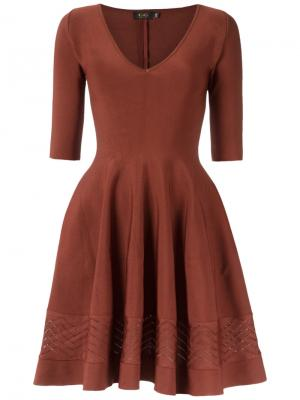 Knitted dress Gig. Цвет: коричневый