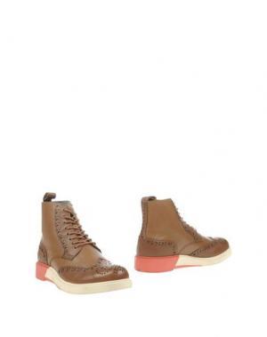 Полусапоги и высокие ботинки ANTHONY MILES. Цвет: верблюжий