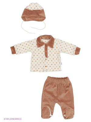 Комплект одежды Лео. Цвет: коричневый