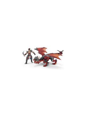 Воин с драконом SCHLEICH. Цвет: красный, серый
