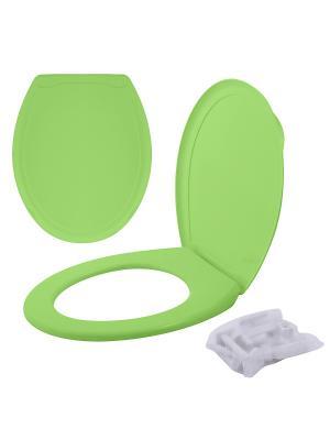 Сиденье для унитаза с крышкой МультиДом. Цвет: светло-зеленый