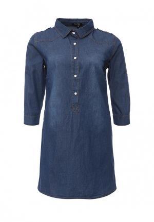 Платье джинсовое Stella Morgan. Цвет: синий