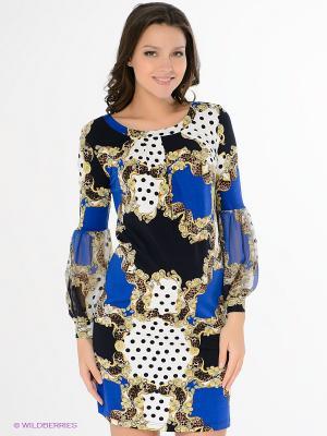 Платье Nuova Vita. Цвет: синий, желтый, белый, черный