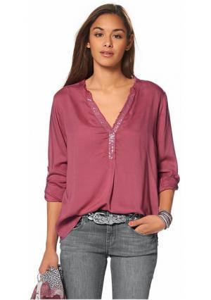 Комплект: блузка + платок Tom Tailor. Цвет: ягодный