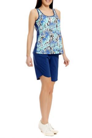 Комплект с шортами Relax Mode. Цвет: синий