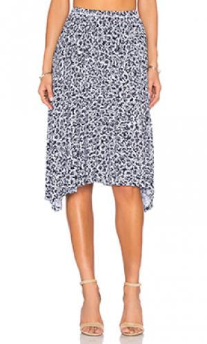 Плиссированная юбка rico Michael Lauren. Цвет: синий