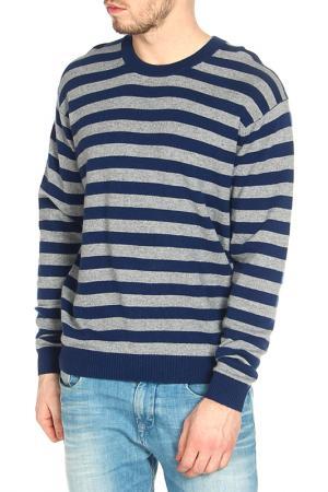 Пуловер Expression. Цвет: сине-серый, полоска