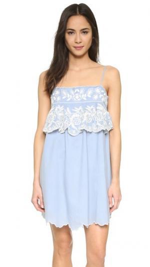 Платье Seraphina Love Sam. Цвет: шамбре/цвет слоновой кости