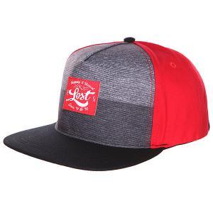Бейсболка  Two Tone Red Lost. Цвет: серый,красный,черный