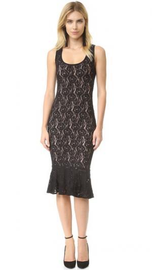 Кружевное платье без рукавов Fuzzi. Цвет: голубой