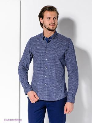 Рубашка MONDIGO. Цвет: синий, красный
