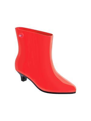 Резиновые сапоги Melissa. Цвет: красный