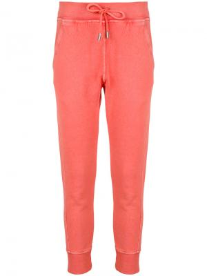 Fitted track trousers Dsquared2. Цвет: жёлтый и оранжевый