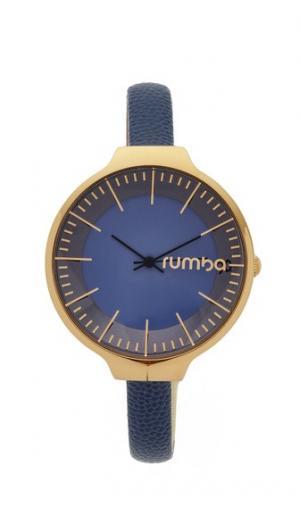 Часы Orchard с кожаным ремешком темно-синего цвета RumbaTime