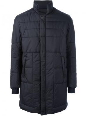 Стеганое пальто с воротником-стойкой 11 By Boris Bidjan Saberi. Цвет: чёрный