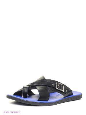 Пантолеты Mario Ponti. Цвет: черный, синий
