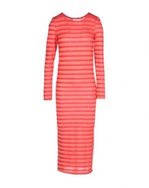 Платье длиной 3/4 GIORGIA & JOHNS. Цвет: красный