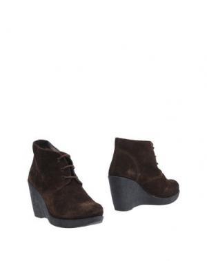 Полусапоги и высокие ботинки BAGE. Цвет: какао