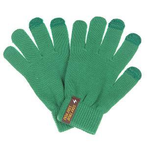 Перчатки  Touchgloves Green TrueSpin. Цвет: зеленый