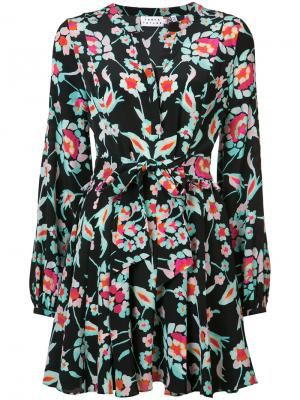 Платье с цветочным узором Tanya Taylor. Цвет: чёрный