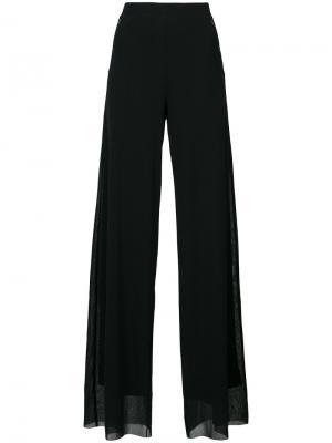 Широкие брюки Fuzzi. Цвет: чёрный