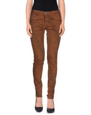 Джинсовые брюки BLEULAB. Цвет: коричневый