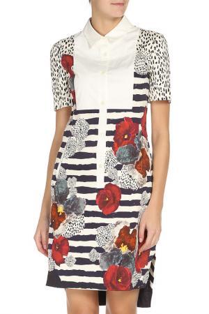 Платье PHILOSOPHY. Цвет: кремовый, бордовый