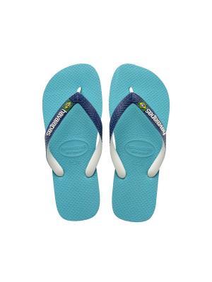 Шлепанцы HAVAIANAS BRASIL MIX. Цвет: голубой