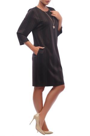 Свободное платье с карманами Петербургский Швейный Дом. Цвет: темно-коричневый