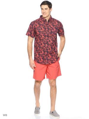 Рубашка Columbia. Цвет: красный, синий