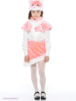 Карнавальный костюм Киска Василиска Батик. Цвет: бледно-розовый