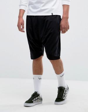 ASOS Легкие трикотажные шорты с заниженным шаговым швом. Цвет: черный
