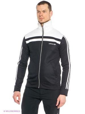 Толстовка Adidas. Цвет: черный, белый