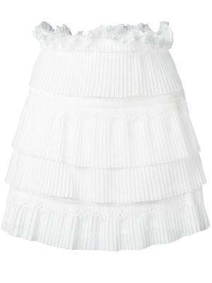 Многослойная плиссированная юбка Iro. Цвет: белый