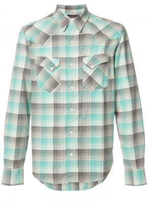 Рубашка в клетку Rrl. Цвет: зелёный