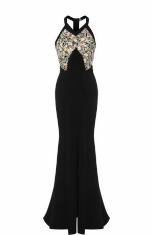 Приталенное платье-макси с подолом Roland Mouret. Цвет: черный