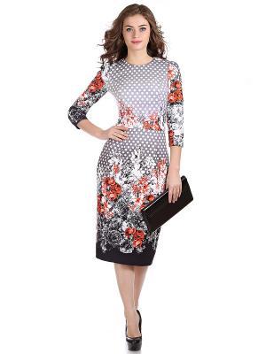 Платье OLIVEGREY. Цвет: красный, белый, черный