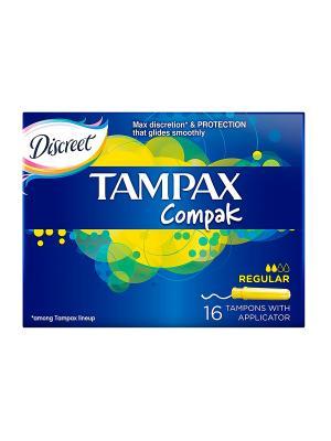 Гигиенические тампоны Compak Regular 16шт. TAMPAX. Цвет: темно-синий