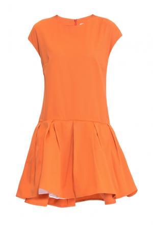 Платье из хлопка 160673 Infinee. Цвет: оранжевый