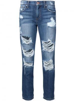 Укороченные джинсы с рваными деталями Joes Jeans Joe's. Цвет: синий