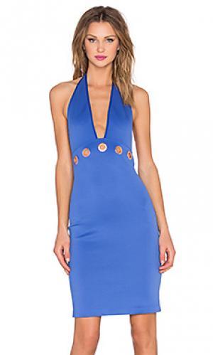 Платье миди Clover Canyon. Цвет: синий